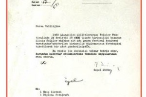 1960 İngiltere Llangollen Dünya 1.liği Takdir Belgesi